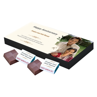 Customised Chocolate Box with Photo and Message  18pcs  Personalized Customized Chocolate Box with Photo