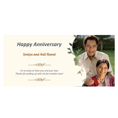 Customised Chocolate Box with Photo and Message  18pcs  8 Anniversary 18D