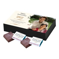Customised Chocolate Box with Photo and Message  6pcs  Customized Chocolate Box with Photo and Message