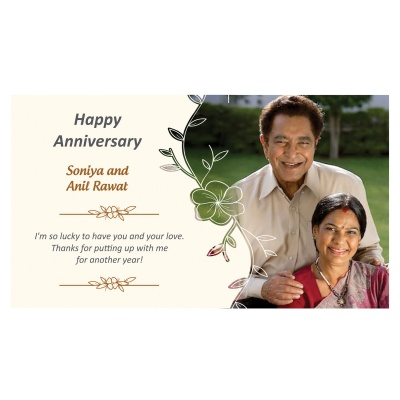 Customised Chocolate Box with Photo and Message  6pcs  8 Anniversary 6D