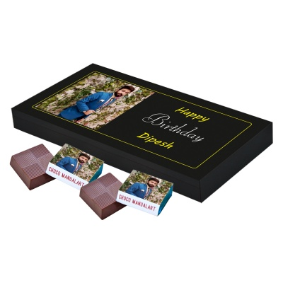 Printed Photo on Chocolate Gift Box 18 Pcs  8 Birthday Gift 18A
