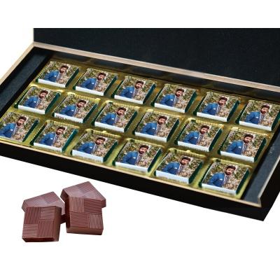 Printed Photo on Chocolate Gift Box 18 Pcs  8 Birthday Gift 18B