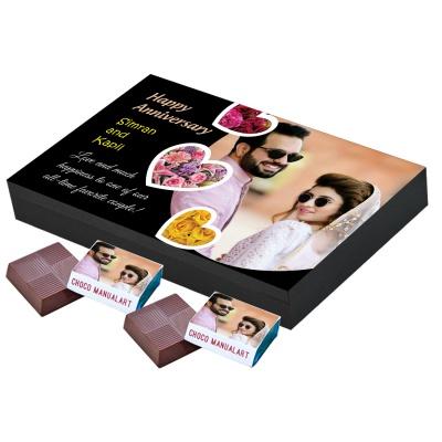 Personalised Anniversary Chocolate Gift  12pcs  Personalized Wedding Anniversary Chocolate Gift