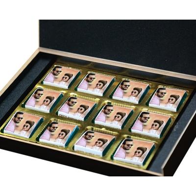 Personalised Anniversary Chocolate Gift  12pcs  9 Anniversary 12B