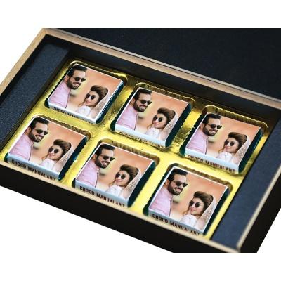 Personalised Anniversary Chocolate Gift With Image  6pcs  9 Anniversary 6B