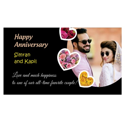 Personalised Anniversary Chocolate Gift With Image  6pcs  9 Anniversary 6D