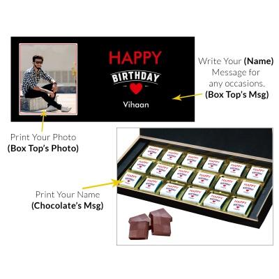 Customized chocolate Birthday Gift Box 18 Pcs  9 Birthday Gift 18C