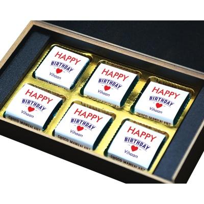 Birthday Chocolate Gift With Printed Message 6 Pcs  9 Birthday Gift 6B