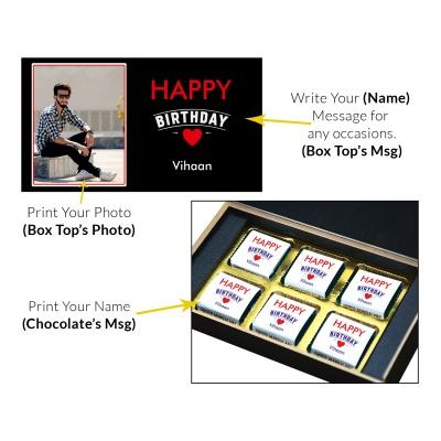 Birthday Chocolate Gift With Printed Message 6 Pcs  9 Birthday Gift 6C