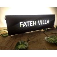 Acrylic Laser-cut LED Name Plate