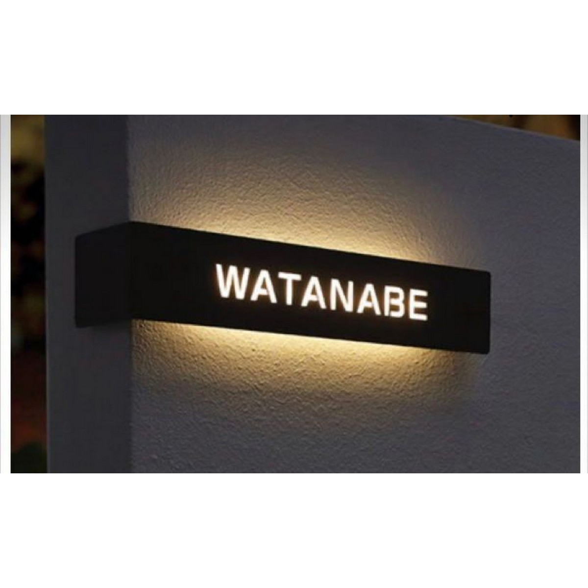 Acrylic LaserCut LED Name Plate