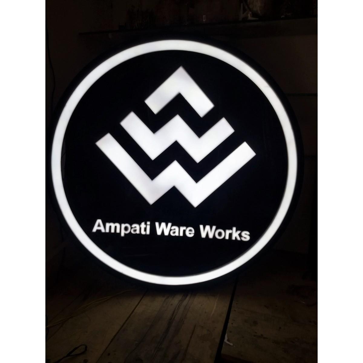 Acrylic Light Logo  Black  white acrylic  weatherproof  Acrylic Light Logo  Black  white acrylic  weatherproof