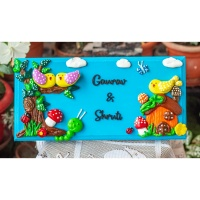 Customized Handcrafted Nameplate With Logo