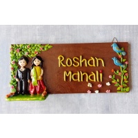 Beautiful designer couple nameplate for home