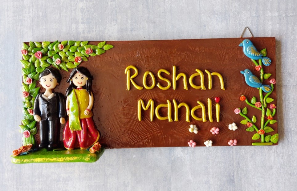 Beautiful designer couple nameplate for home  Beautiful designer couple nameplate for home