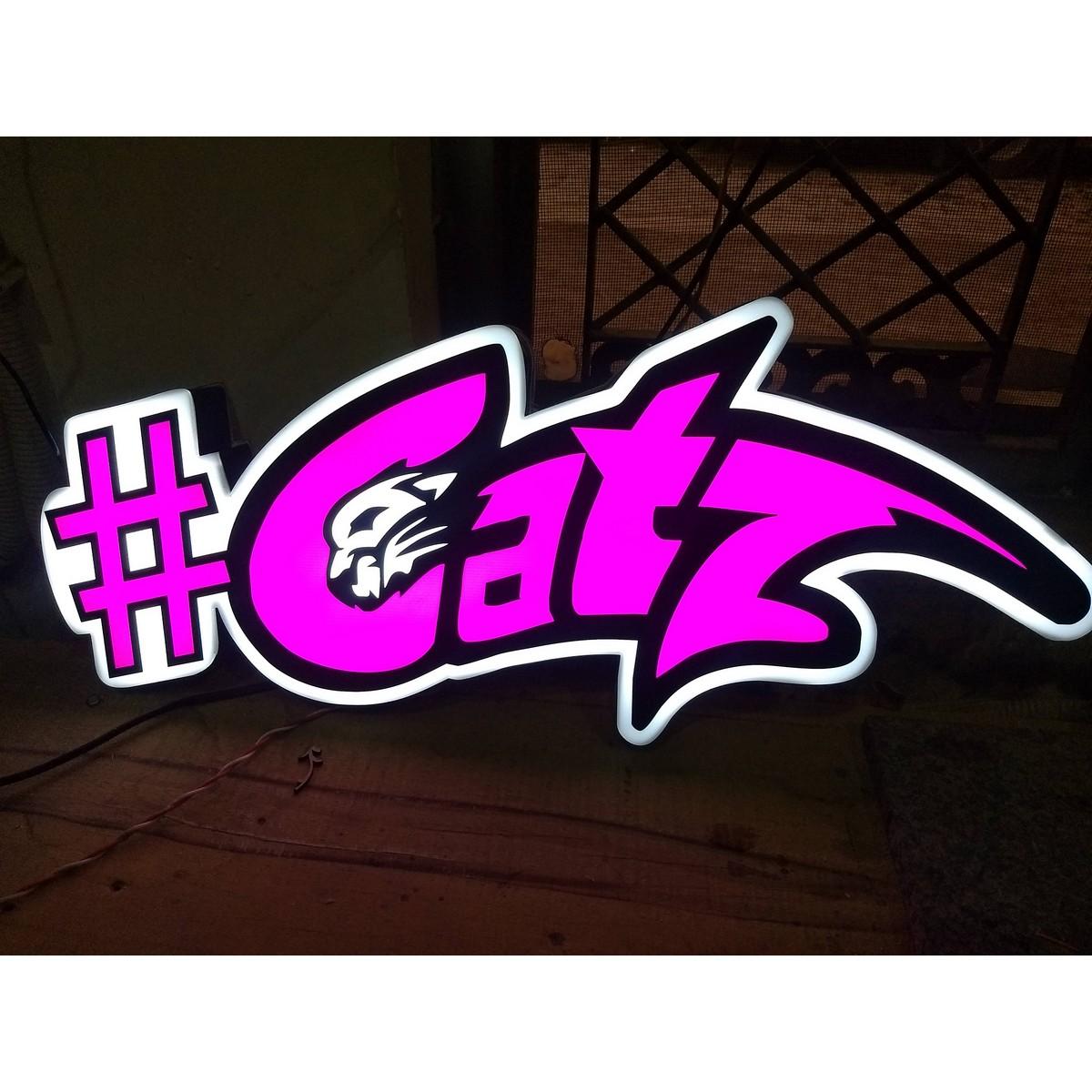 Catz LED Logo  Customizable  LED Logo  Customizable