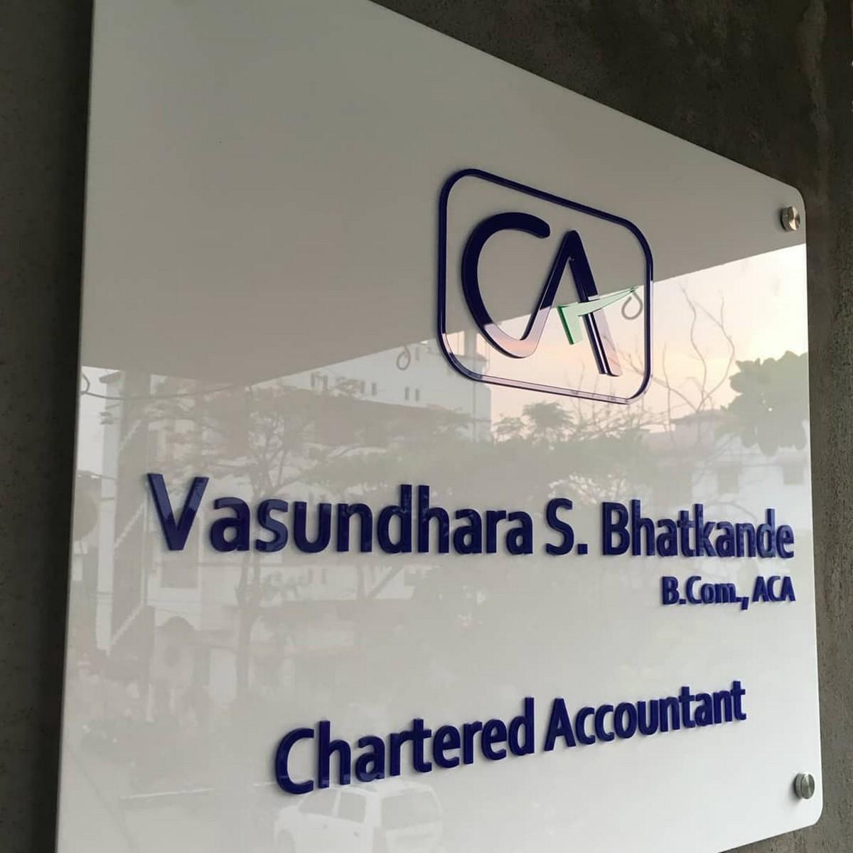 Chartered Accountant Acrylic Name Plate  Chartered Accountant Name Plate 2