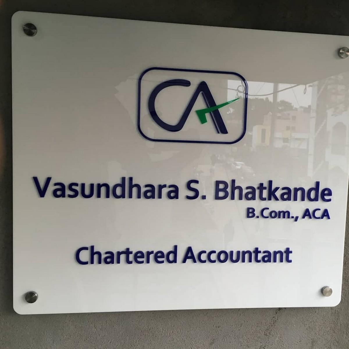 Chartered Accountant Acrylic Name Plate  Chartered Accountant Name Plate