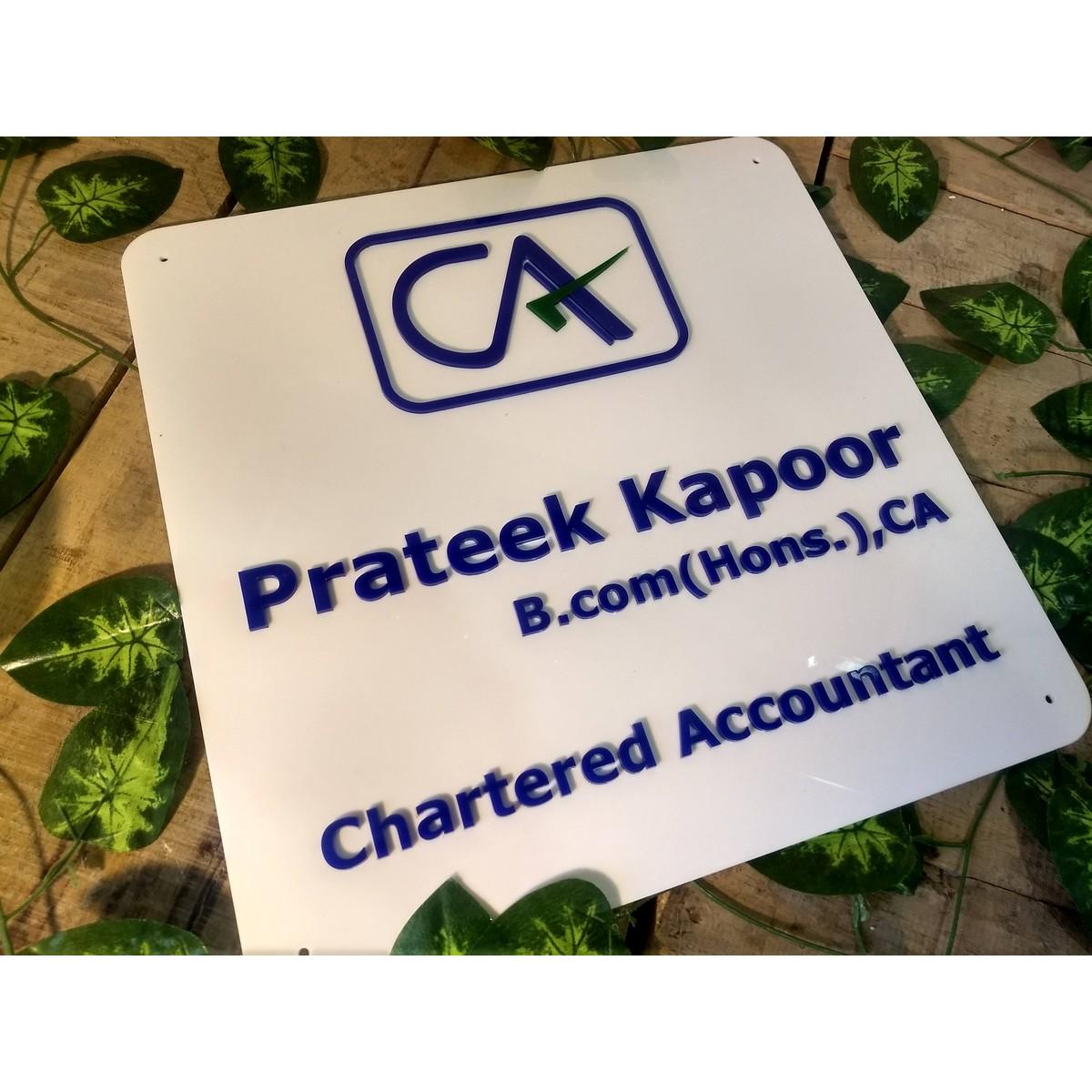 Chartered Accountant Weatherproof Name Plate  Chartered Accountant Weatherproof Name Plate 2