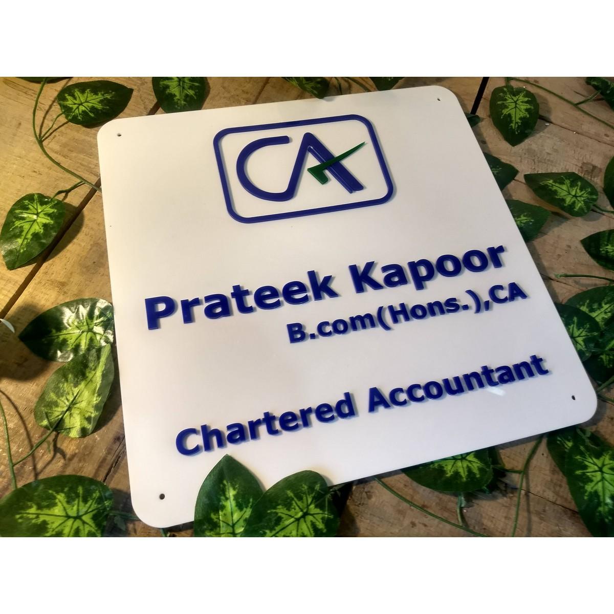 Chartered Accountant Weatherproof Name Plate  Chartered Accountant Weatherproof Name Plate 3