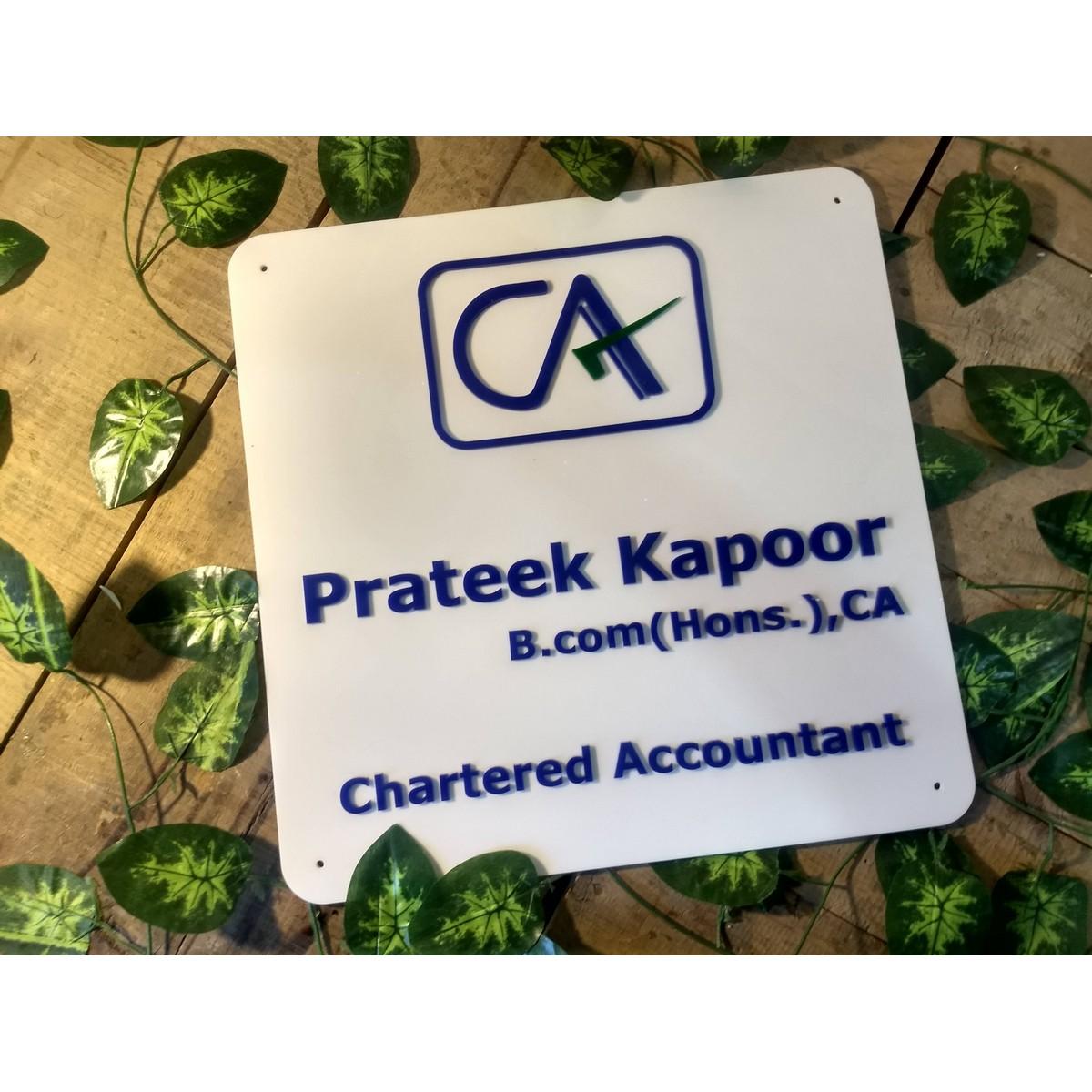 Chartered Accountant Weatherproof Name Plate  Chartered Accountant Weatherproof Name Plate 4