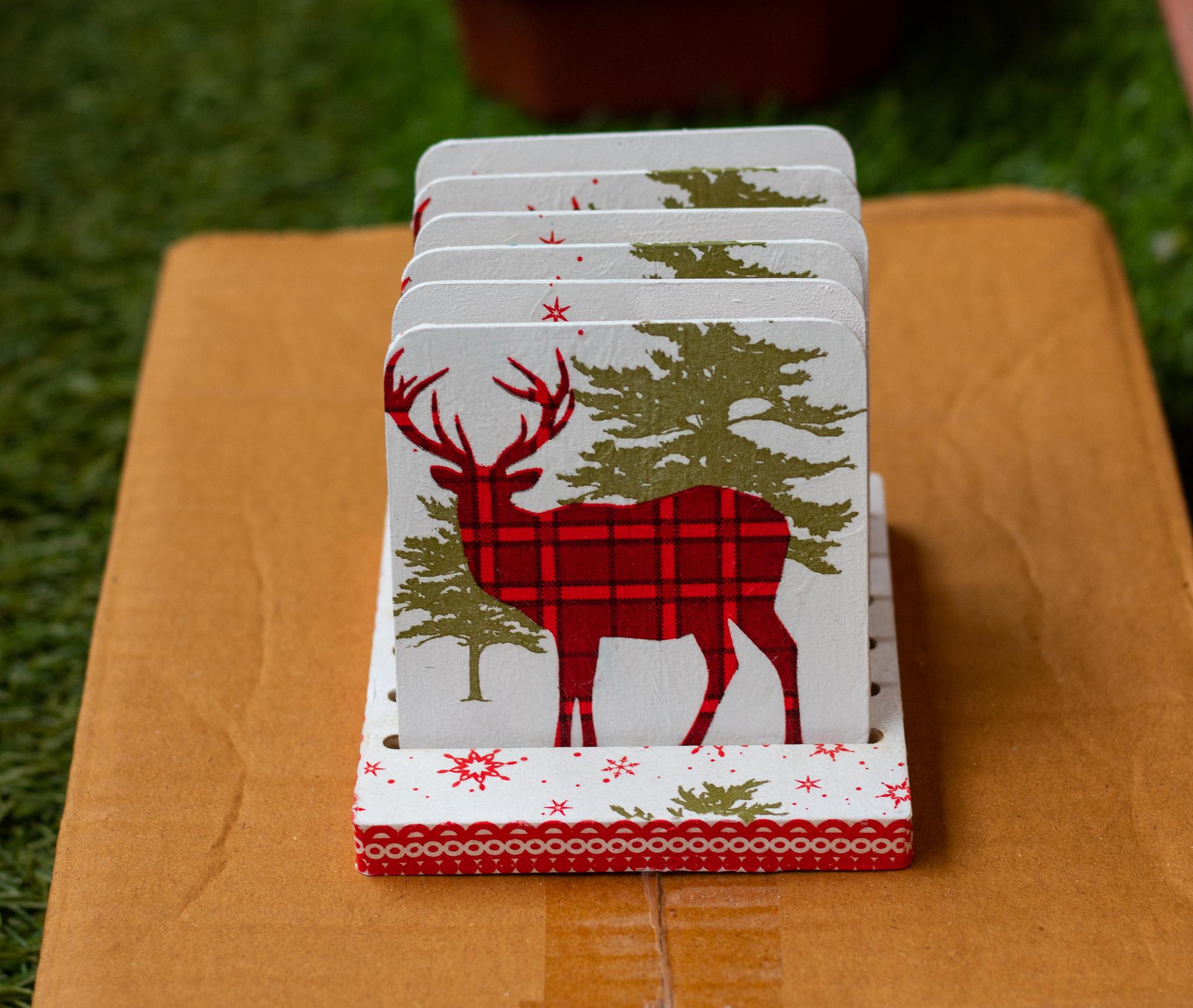 Christmas themed Coaster set