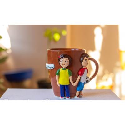 Decorative Coffee MugBrother Sister  Creative Corner Artwork Hitchki 3 1