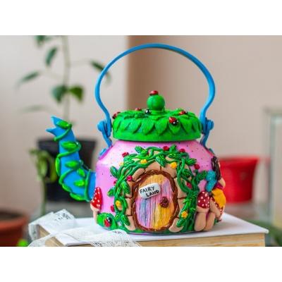Creative Corner Fairy Themed Teapot  Creative Corner Hitchki Unique Wooden Artworks 0001 5