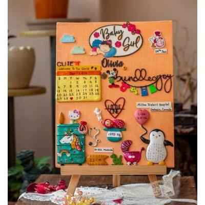 Birth Capture girl themed Creative Corner  Creative Corner Hitchki Unique Wooden Artworks 0001 2 6