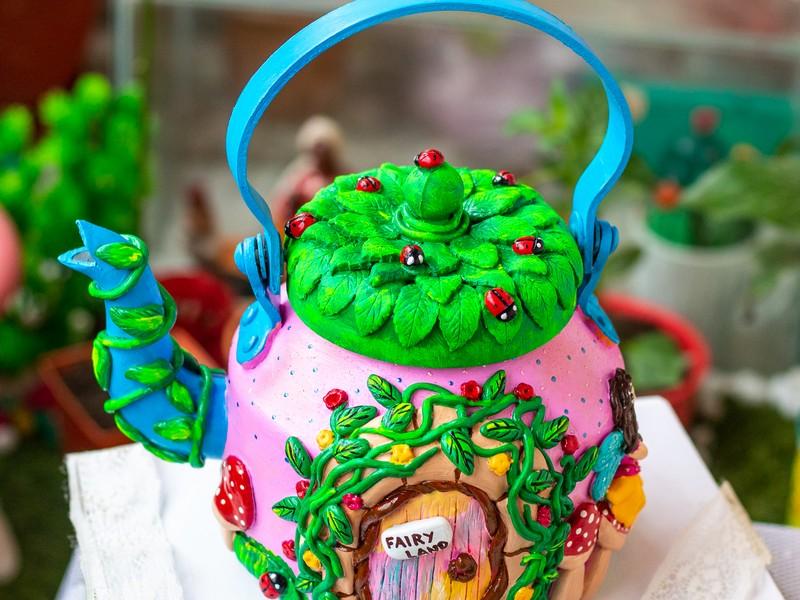Creative Corner Fairy Themed Teapot  Creative Corner Hitchki Unique Wooden Artworks 0001 4 1