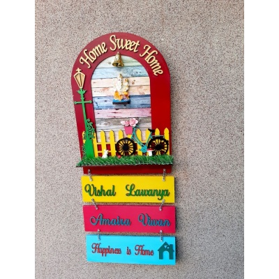 Sweet Home with Garden Theme Customized Arch Nameplate  Customized Arch nameplate