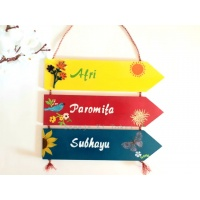 Customized Wooden Nameplate for Entrance