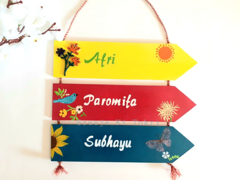 Customized Wooden Nameplate for Entrance  Customized Wooden Nameplate for Entrance