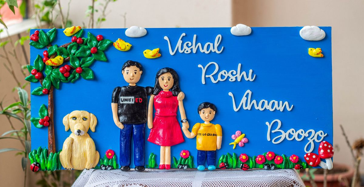 Customized Handcrafted Family Nameplate  Family nameplate