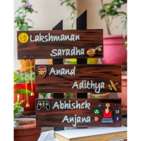 Beautiful Nature Themed Couple Nameplate  Customized handcrafted nameplate with logo