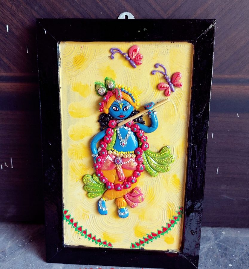 Krishna Customizes Handmade Wall Decor  lord krishna customize