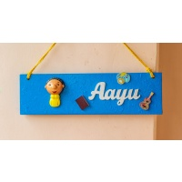 Cute handcrafted designer customized kid's nameplate