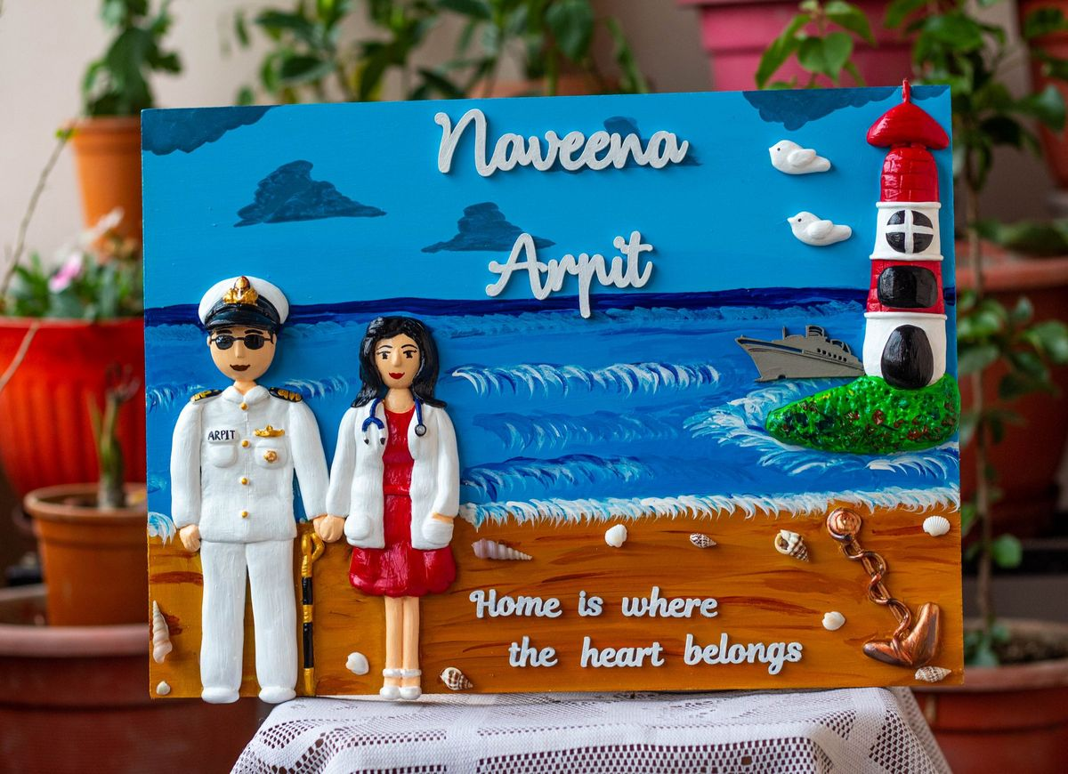 Indian Navy and Doctor Themed Customized Nameplate  Navy Theme nameplate