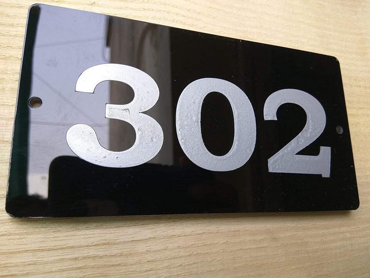 Door Number Plate  Acrylic Embossed Letters  Door name plate  3