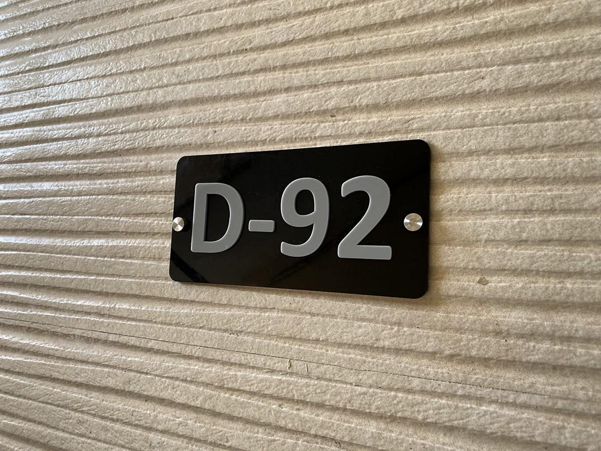 Door Number Plate  Acrylic Embossed Letters  Door name plate