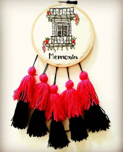 Embroidery Hoop for Interior Wall Decoration  Embroidered wall art to glam up your wall