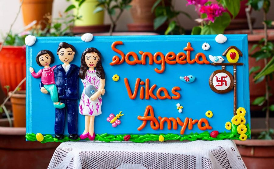 Handcrafted Customized Family Nameplate  Family Nameplate