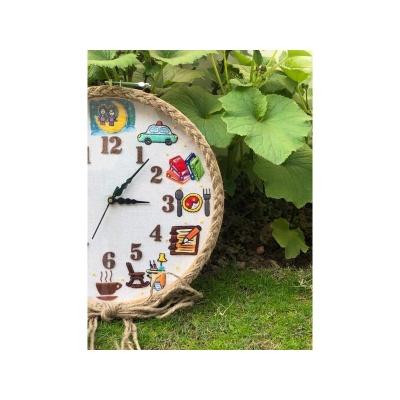 Hand Embroidered Theme Based Framed Clocks  IAS