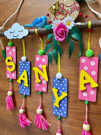 Sweet Birdy Girls Room Nameplates
