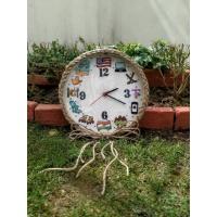Hand Embroidered Framed Clocks-001
