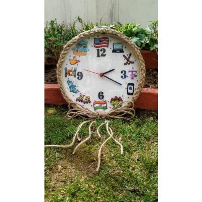 Hand Embroidered Framed Clocks  Hand Embroidered Framed Clocks002