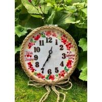 Hand Embroidered Theme Based Framed Clocks  Love