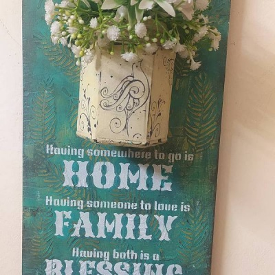 Hand Made Key Chain Holder with a Glass Vase  Hand Made Key Holder with a Glass Vase004
