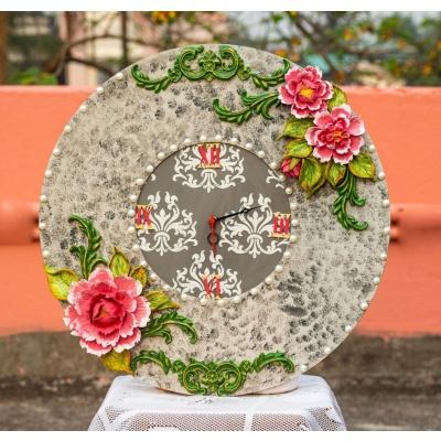Handcrafted Floral Victorian Clock  Victorian clock