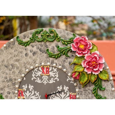 Handcrafted Floral Victorian Clock